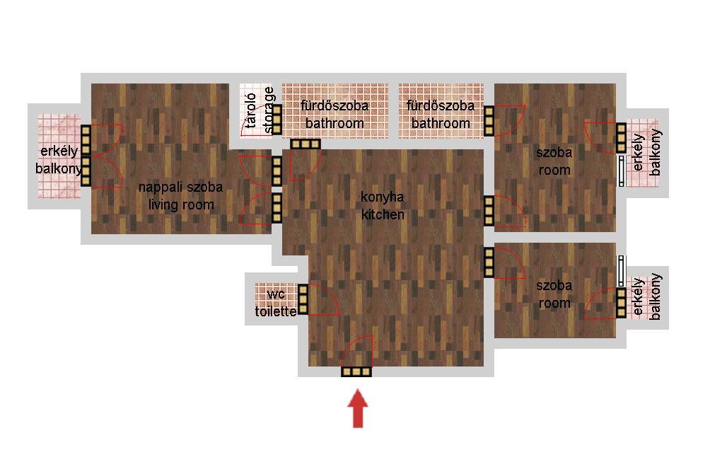 Veres Pálné utca 104.9MFt - 67 m2eladó Bauhaus lakás ingatlanBudapest 5. kerület