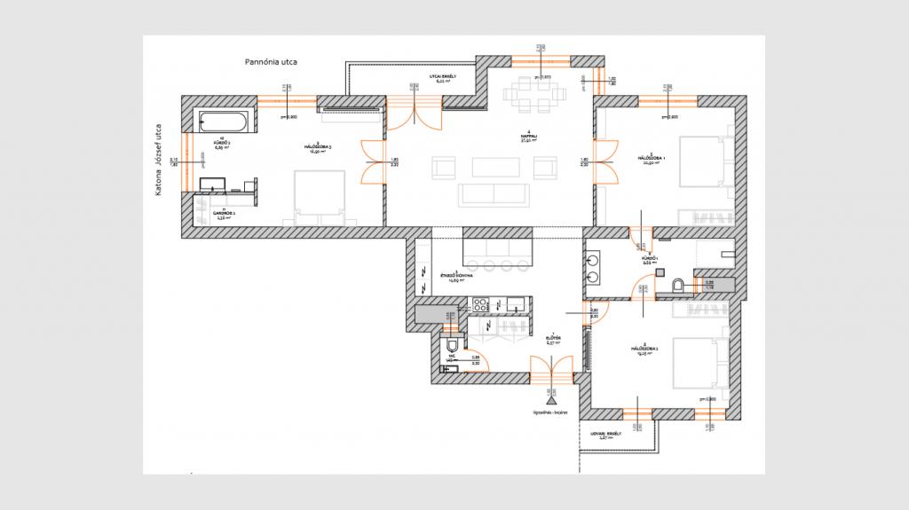 Pannónia utca 156.9MFt - 135 m2eladó Bauhaus lakás ingatlanBudapest 13. kerület