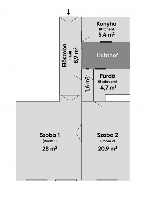 Lovag utca 50.9MFt - 64 m2eladó Polgári lakás ingatlan Budapest 6. kerület