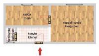 Csóka utca 36.9MFt - 49 m2eladó Bauhaus lakás Budapest 11. kerület