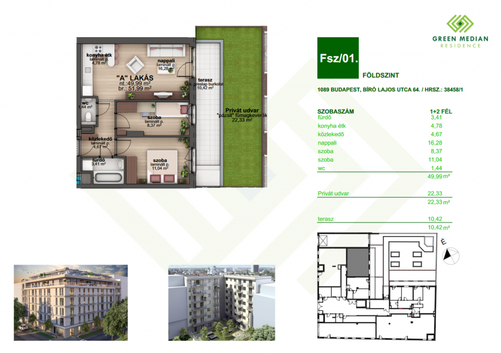 Bíró Lajos utca 48.408MFt - 52 m2eladó Új építésű lakás Budapest 8. kerület