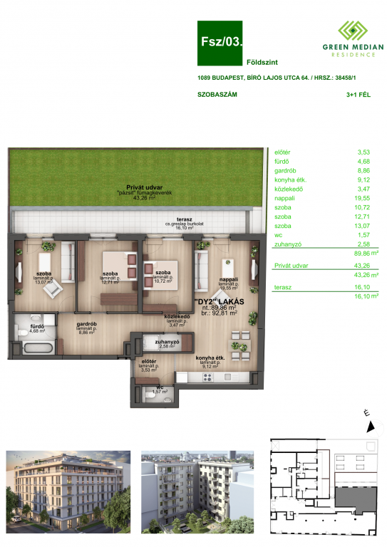 Bíró Lajos utca 86.736MFt - 93 m2eladó Új építésű lakás Budapest 8. kerület