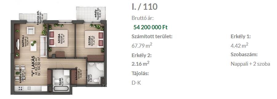 Bíró Lajos utca 54.2MFt - 65 m2eladó Új építésű lakás Budapest 8. kerület