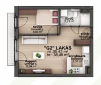 Bíró Lajos utca 38.6MFt - 36 m2eladó Új építésű lakás Budapest 8. kerület