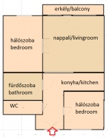 Mozsár utca 385EFt - 78 m2kiadó tégla építésű lakás Budapest 6. kerület