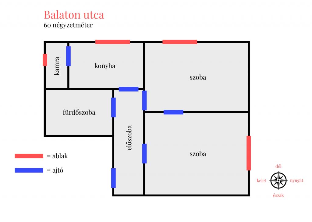 Balaton utca 54.9MFt - 60 m2eladó Polgári lakás Budapest 5. kerület