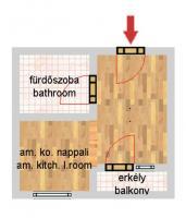Dohány utca 41.5MFt - 44 m2eladó Újszerű lakás Budapest 7. kerület