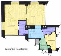 Damjanich utca 84MFt - 90 m2eladó tégla lakás Budapest 7. kerület
