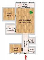 Harminckettesek tere 52MFt - 65 m2eladó Csúsztatott zsalus lakás Budapest 8. kerület