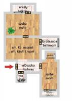 Kisfaludy utca 42.9MFt - 46 m2eladó Bauhaus lakás Budapest 8. kerület